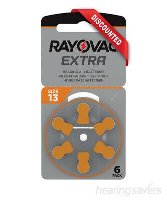 NEW Rayovac Extra Advanced Hearing Aid Batteries Size 13 from Hearing Savers