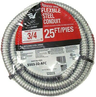 AFC Cable Systems 3/4 in. x 25 ft. Flexible Steel Conduit wire tube Free Ship