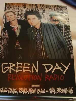 Green Day - Revolution Radio PROMO Poster double sided promotional lp cd
