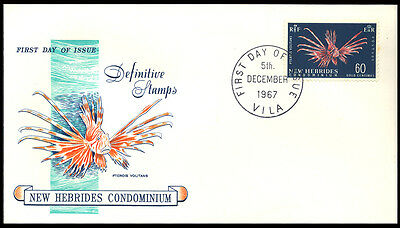 1967 New Hebrides - Definitives - Fish - Fdc - Cover - J41