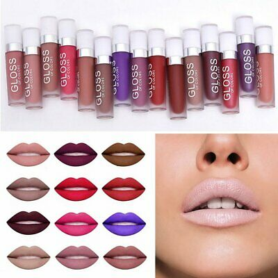 15 pcs Maquillaje Lasting Waterproof Lápiz labial Matte Pencil Lip Gloss Liquid