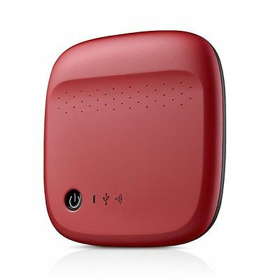 Seagate 500GB Wireless Mobile Storage External Portable Hard Disk Drive Red