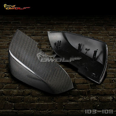 For BMW F20 F21 F22 F23 F30 F31 F32 F35 Carbon Fiber Mirror Cover 1:1Replacement