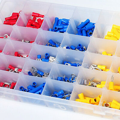 480Pcs Assorted Crimp Terminals Set Insulated Electrical Wiring Connector Kit AU