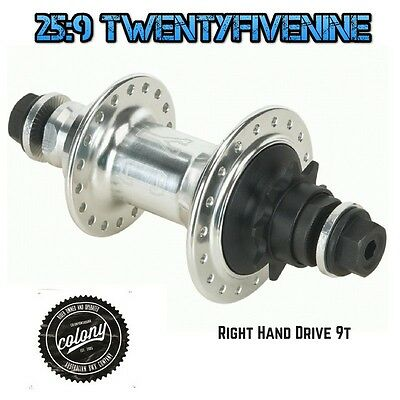 Colony Wasp BMX Female Axle Cassette Hub Right Hand Drive 9t POLISHED 415gms