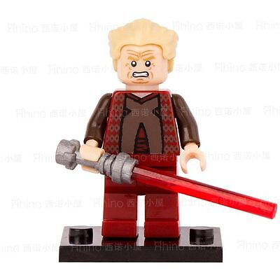 STAR WARS CHANCELLOR PALPATINE with Lightsaber Blocks Minifigures Kids Toys Gift