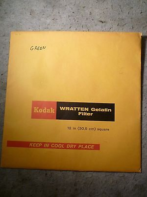 "Kodak 12"" (30.5Cm) Wratten Gelatin Filter Opened But Looks Unused Green *2 Of 2*"