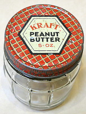 Vintage Glass Jar Kraft Peanut Butter #2