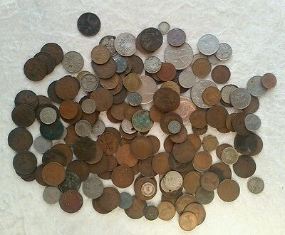 163 coins British & World Mostly British job lot wholesale COIN HUNT