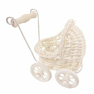 4x Mini Pram Favours Basket - Neutral - X-Small - Baby Shower Sweets Gift