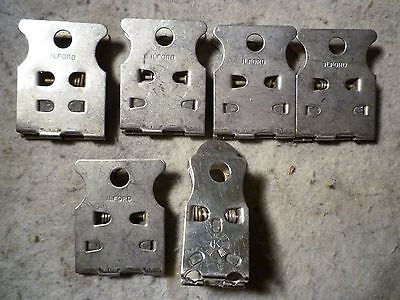 Ilford Vintage Metal Photography Clips X 5 And One Other - Clamps Darkroom Photo