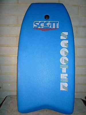 Scott Vintage 1980's Scooter Boogie Board Excl Cond Blue Yellow  - Body Surf