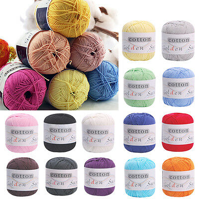 New 1 Ball/50g Super Soft Natural Cotton Smooth Baby Sweater Soft Yarn Knitting