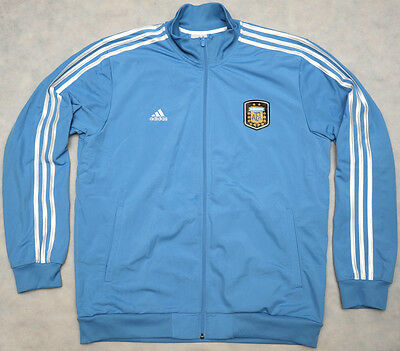 MESSI 10 - ARGENTINA - ADIDAS 3 STRIPES - genuine football TRACK TOP - size L