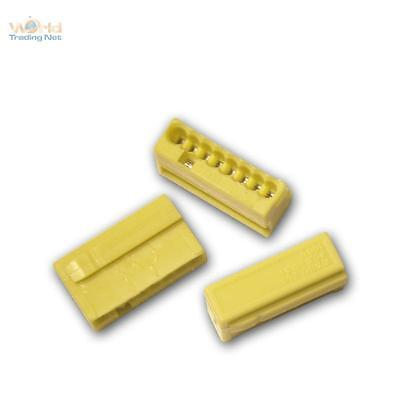 50 Set Wago Micro Connectors 8x 0,6 -0, 8 mm ² - Yellow Box Terminals Serrefine