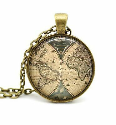 Vintage ancient world map pendant necklace explorer pirate treasure vintage ancient world map pendant necklace explorer pirate treasure expedition freerunsca Gallery