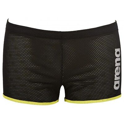 Arena Unisex Square Cut Drag Swim Shorts - Black