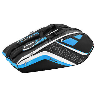 BABOLAT Racket Holder X12 Badminton Tennis Racketbag Tasche Team Line blau -NEU-