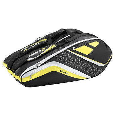 BABOLAT Racket Holder X12 Badminton Tennis Racketbag Tasche Team Line gelb -NEU-