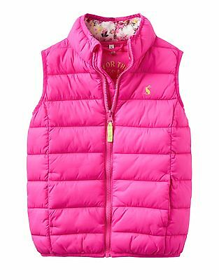 Joules Girls Padded gilet, bodywarmer, waistcoat in pink, 7yrs, new with tags