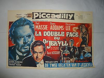 HAMMER/ THE TWO FACES OF DR JEKYLL//  belgian poster
