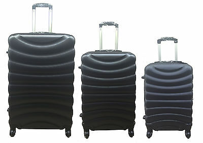 4 Wheel Spinner Hard Shell Suitcase ABS Luggage Trolley Case Cabin Carry On Hand