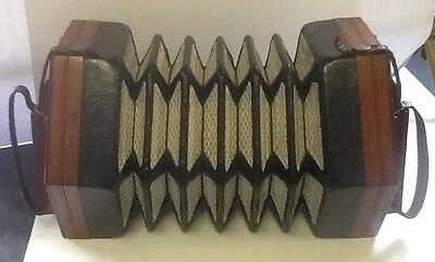 Antique Lachenal 20 Button Anglo Concertina