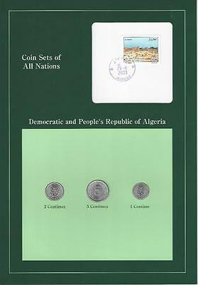 Coin Sets of All Nations, Algeria, VERY SCARCE SET