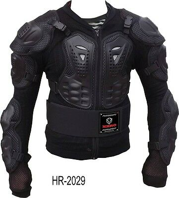 Pettorina Protezione Body Armour HERO Nera Cross Moto Enduro Quad Motard