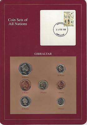 Coin Sets of All Nations - Gibraltar, Postmarked 1996