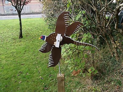 Hand Made  Pheasant Whirligig Wind  Spinner Garden Ornament Vintage Retro Style