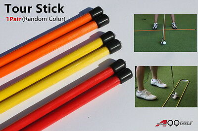 1pair A99 Golf Alignment Sticks Swing Tour Trainer Rods Practice Aids