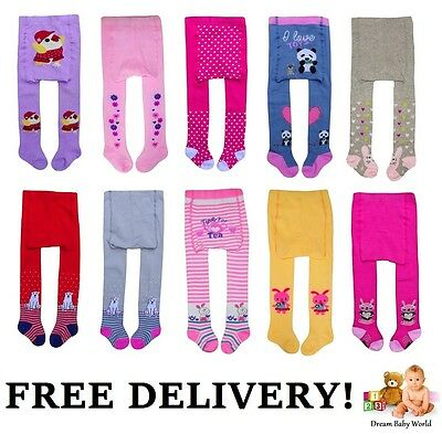 Baby GIRLS Cotton Mix Tights Leg Warmers 3 - 36 Months & 3 - 5 Years GIRL NEW