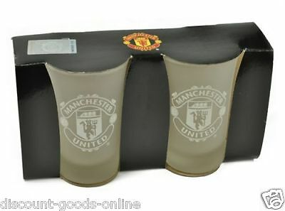Manchester United Fc Twin Pack Shot Glasses