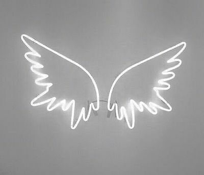 New Angel Wings Wall Home Decor STORE Real Glass Neon Light Sign Free SHIP Gift