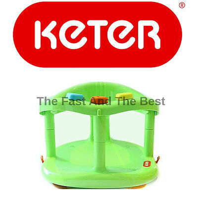 Infant Baby Bath Tub Ring Seat KETER GREEN FAST SHIPPING TO USA New in BOX
