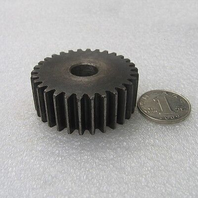 45# Steel Motor Gear Spur Pinion Gear 2Mod 30Tooth Thickness 20mm x 1Pcs
