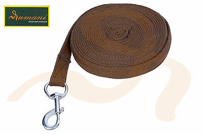 Rumani Brand Cotton Web lunging Rein For Horses Thin 8mt Rein / Lead
