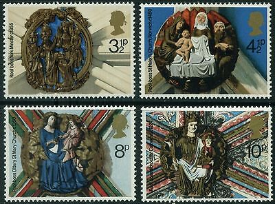 GB MNH STAMP SET 1974 Christmas Roof Bosses SG 966-969 10% OFF FOR ANY 5+