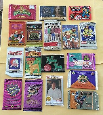 Lot Of 65 Non Sport Trading Card Wax Packs & Sharon Osbourne Pieceworks PW2 Card