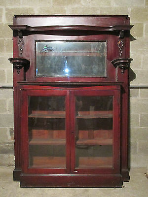 Unique Cherry Victorian Bookcase Fireplace Mantel 60 X 83 ~Architectural Salvage
