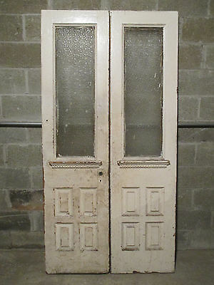~ ANTIQUE DOUBLE ENTRANCE FRENCH DOORS 41.5 x 81.75 ~ ARCHITECTURAL SALVAGE ~