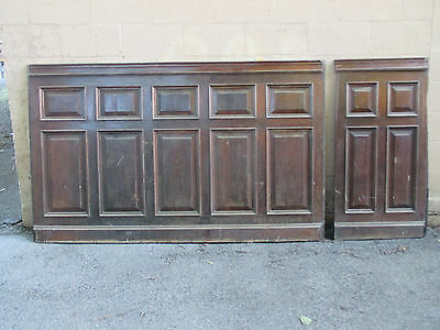 ~ 2 Pieces Antique Walnut Paneling 78 + 23 Inches ~ Architectural Salvage ~