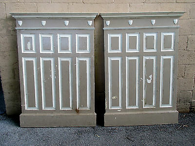 ~ 2 Pieces Antique Oak Paneling 88 Inches Total ~ Architectural Salvage ~