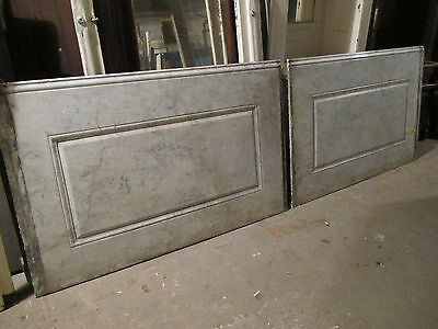 ~ 2 Pieces Antique Marble Paneling 113 Inches Total ~ Architectural Salvage ~