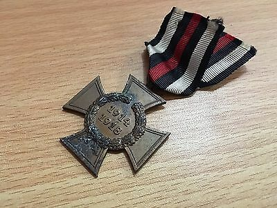 Ww1 German Hindenburg Cross 2 Rv Pforzheim Medal Of Honor War 1914 1918 Lst.#21