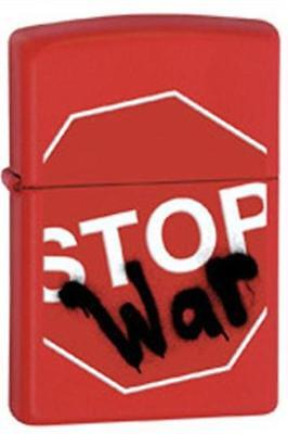Zippo 28140 stop war red matte RARE & DISCONTINUED Lighter