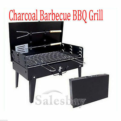 Portable Outdoor BBQ Barbecue Grill Sets Charcoal Hibachi with Carry Case