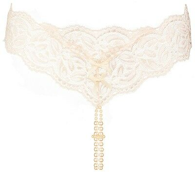 Bracli Dessous Perlenstring ouvert Your Night creme - sexy Dessous Lingerie
