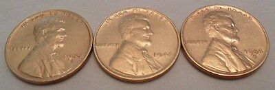 1944 P D S Lincoln Wheat Cent / Penny Coin Set (3 Coins)  **FREE SHIPPING**